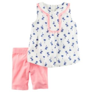 Girls 4-8 Carter's Palm-Tree Tank Top & Bike Shorts Set