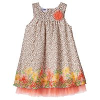Toddler Girl Blueberi Boulevard Cheetah & Floral Mixed Print Dress