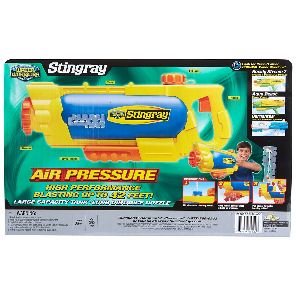 Buzz Bee Toys Water Warriors Stingray Water Blaster
