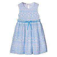Toddler Girl Blueberi Boulevard Floral Crochet Overlay Dress