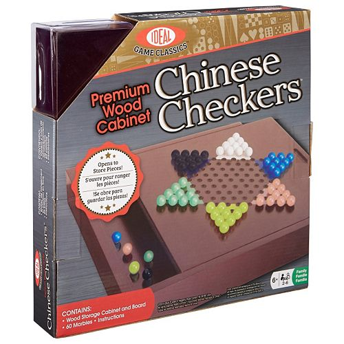 Ideal Premium Wood Cabinet Chinese Checkers