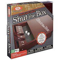 Ideal Premium Wood Cabinet Shut the Box Game Set