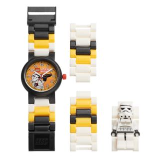 LEGO Kids' Star Wars Stormtrooper Minifigure Interchangeable Watch Set