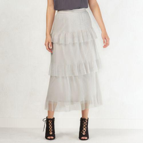 Women's LC Lauren Conrad Tiered Tulle Midi Skirt