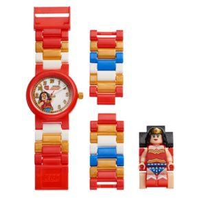 LEGO Kids' DC Comics Wonder Woman Minifigure Interchangeable Watch Set