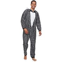 Men's The Nightmare Before Christmas Jack Skellington Microfleece Union Suit