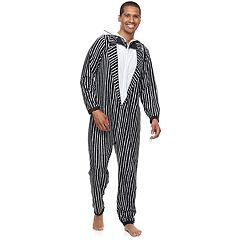 Men's 'The Nightmare Before Christmas' Jack Skellington Hooded Fleece Union Suit