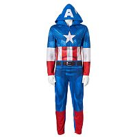 Men's Marvel Captain America Microfleece Union Suit
