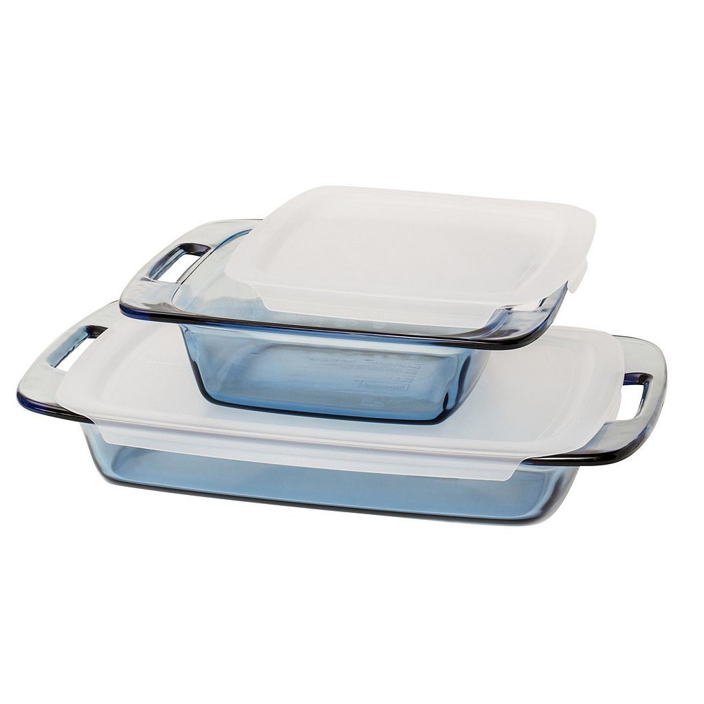 Pyrex 4-pc. Atlantic Blue Glass Bakeware Set