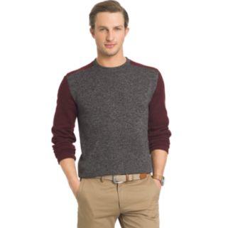 Big & Tall Arrow Classic-Fit Colorblock Fleece Sweater