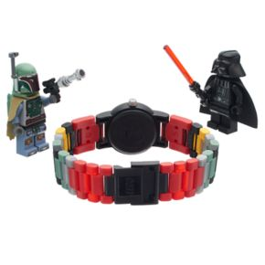 LEGO Kids' Star Wars Darth Vader & Boba Fett Minifigure Interchangeable Watch Set