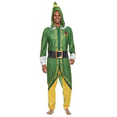 Men's Buddy the Elf Fleece Hooded Union Suit