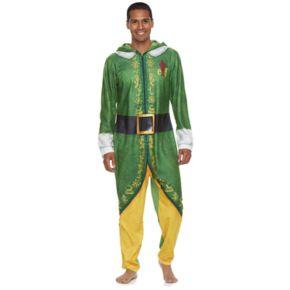 Men's Buddy the Elf Fleece Hooded Union Suit