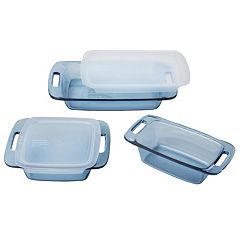 Pyrex 5-pc. Atlantic Blue Glass Bakeware Set