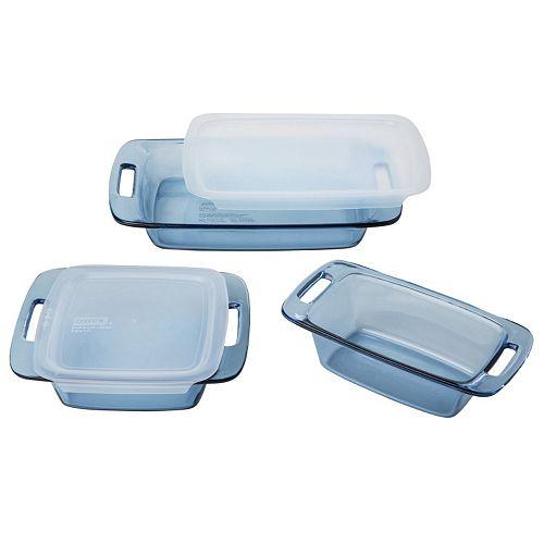 Pyrex 5-pc. Atlantic Blue Glass Bakeware Set
