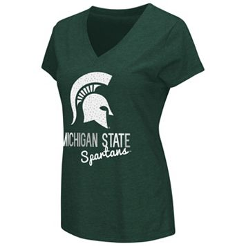 Women's Campus Heritage Michigan State Spartans V-Neck Tee