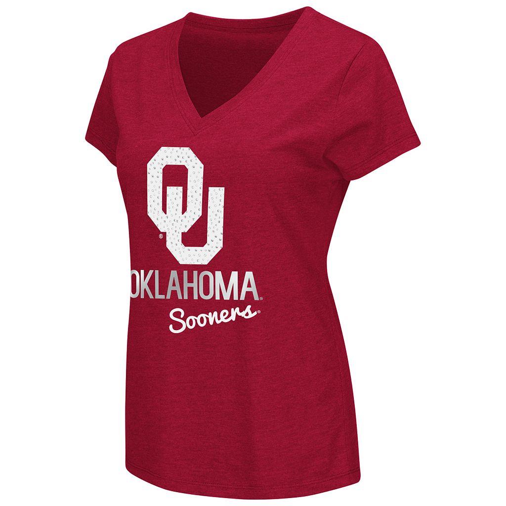 Women's Campus Heritage Oklahoma Sooners V-Neck Tee