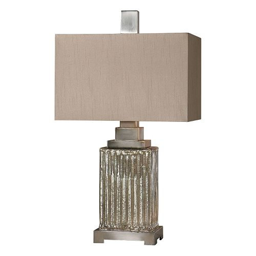 Canino Rectangle Mercury Glass Table Lamp