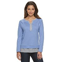 Women's Caribbean Joe Mock-Layer Raglan Tee
