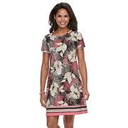 Women's Caribbean Joe Ikat Fish T-Shirt Dress