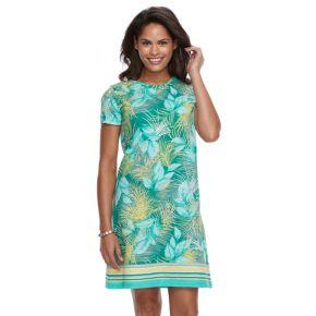Women's Caribbean Joe Ikat Fish T-Shirt Dress