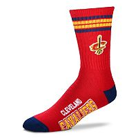 Men's For Bare Feet Cleveland Cavaliers Deuce Striped Crew Socks