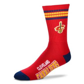 Men's For Bare Feet Cleveland Cavaliers Deuce Striped Crew Socks