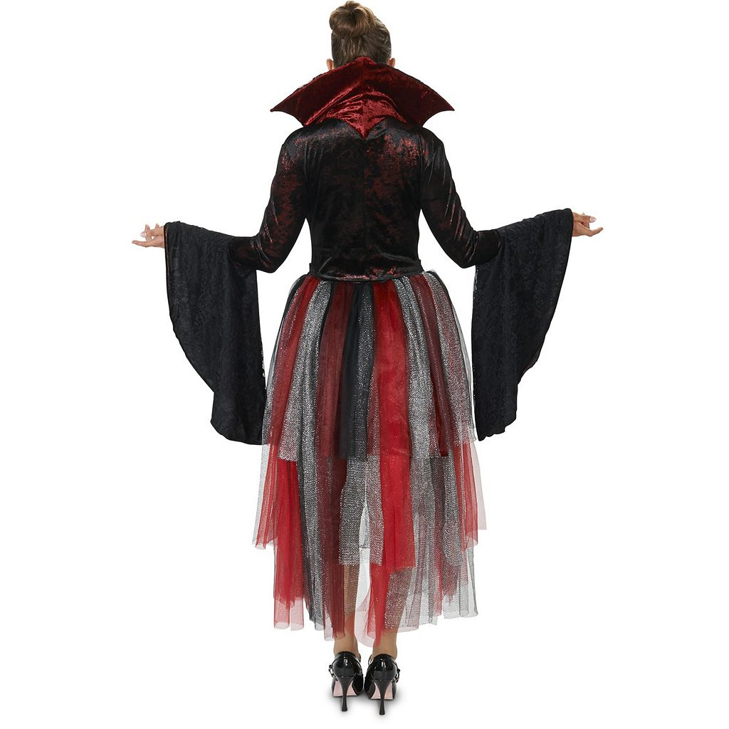 Adult Red Velveteen Queen of Hearts Costume