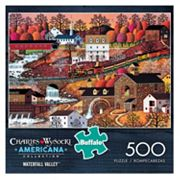 Buffalo Games 500 pc Charles Wysocki Americana Waterfall Valley Puzzle
