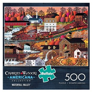 Buffalo Games 500-pc. Charles Wysocki Americana Waterfall Valley Puzzle