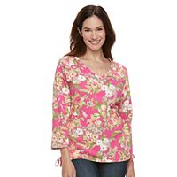 Women's Caribbean Joe Floral Print Top