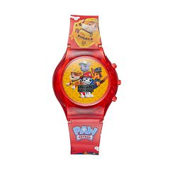 Paw Patrol Chase, Marshall, Rocky & Rubble Kids' Digital Light-Up Watch