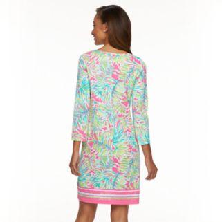 Women's Caribbean Joe Palm Leaf Shirt Dress