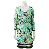 Women's Caribbean Joe Palm Leaf Shirt Dress