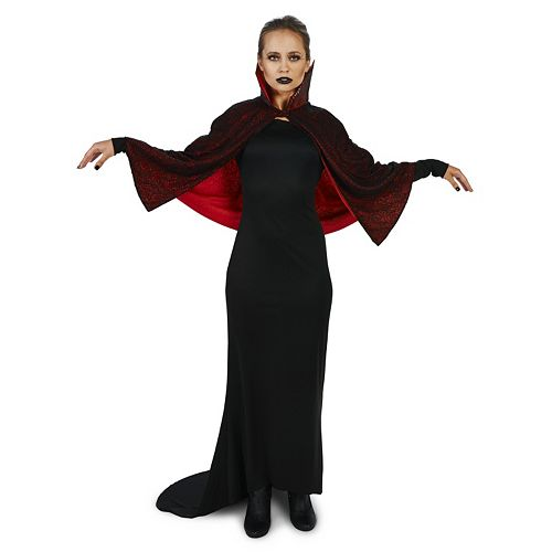 Adult Seductive Vampire Dress with Capelet Costume