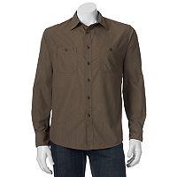 Men's Croft & Barrow® Classic-Fit Heathered Button-Down Field Shirt