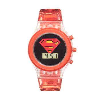 DC Comics Superman Kids' Digital Light-Up Watch