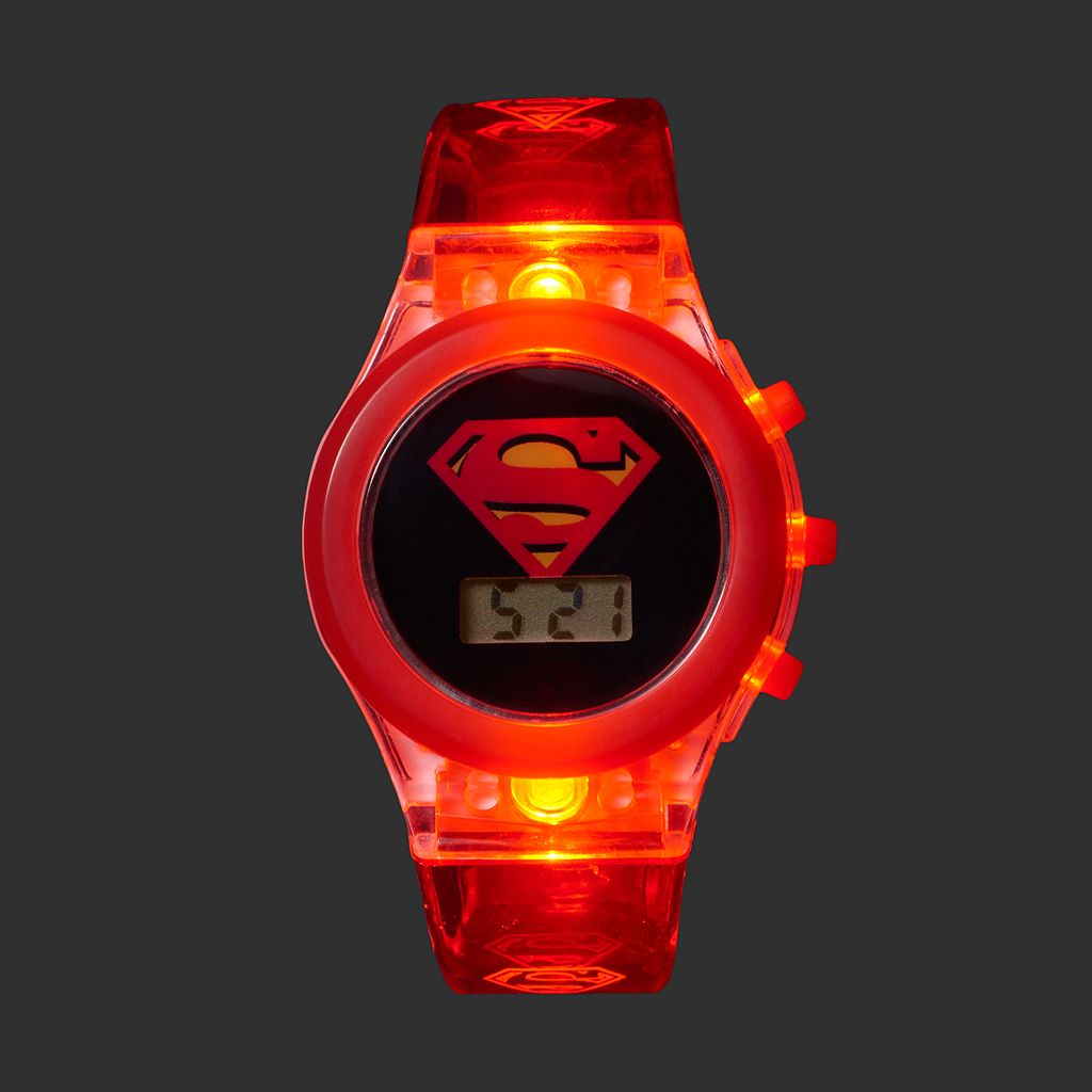 DC Comics Superman Kids' Digital Light-Up Watch