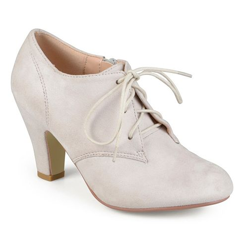 Journee Collection Leona Women's Oxford High Heels - Collection Leona Women's Oxford High Heels