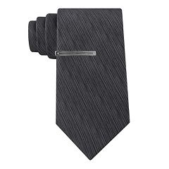 Men's Van Heusen Patterned Skinny Tie and Tie Bar