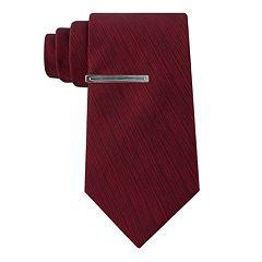 Men's Van Heusen Patterned Skinny Tie and Tie Bar