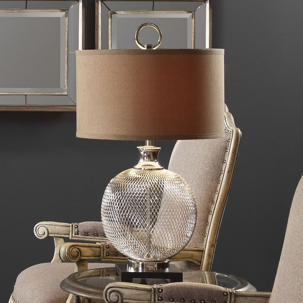 Catalan Round Metal Cage Table Lamp