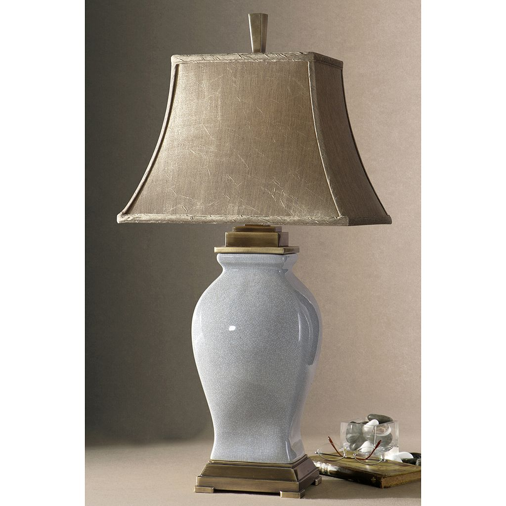 Rory Blue Porcelain Glaze Finish Table Lamp