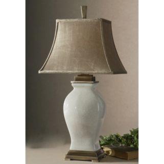 Rory Ivory Porcelain Glaze Finish Table Lamp