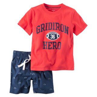 "Toddler Boy Carter's ""Gridiron Hero"" Football Tee & Shorts Set"
