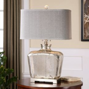 Molinara Speckled Mercury Glass Table Lamp