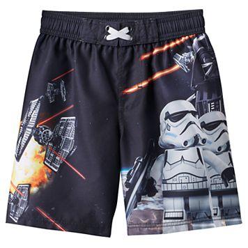 Boys 4-7 Star Wars Graphic Swim Trunks
