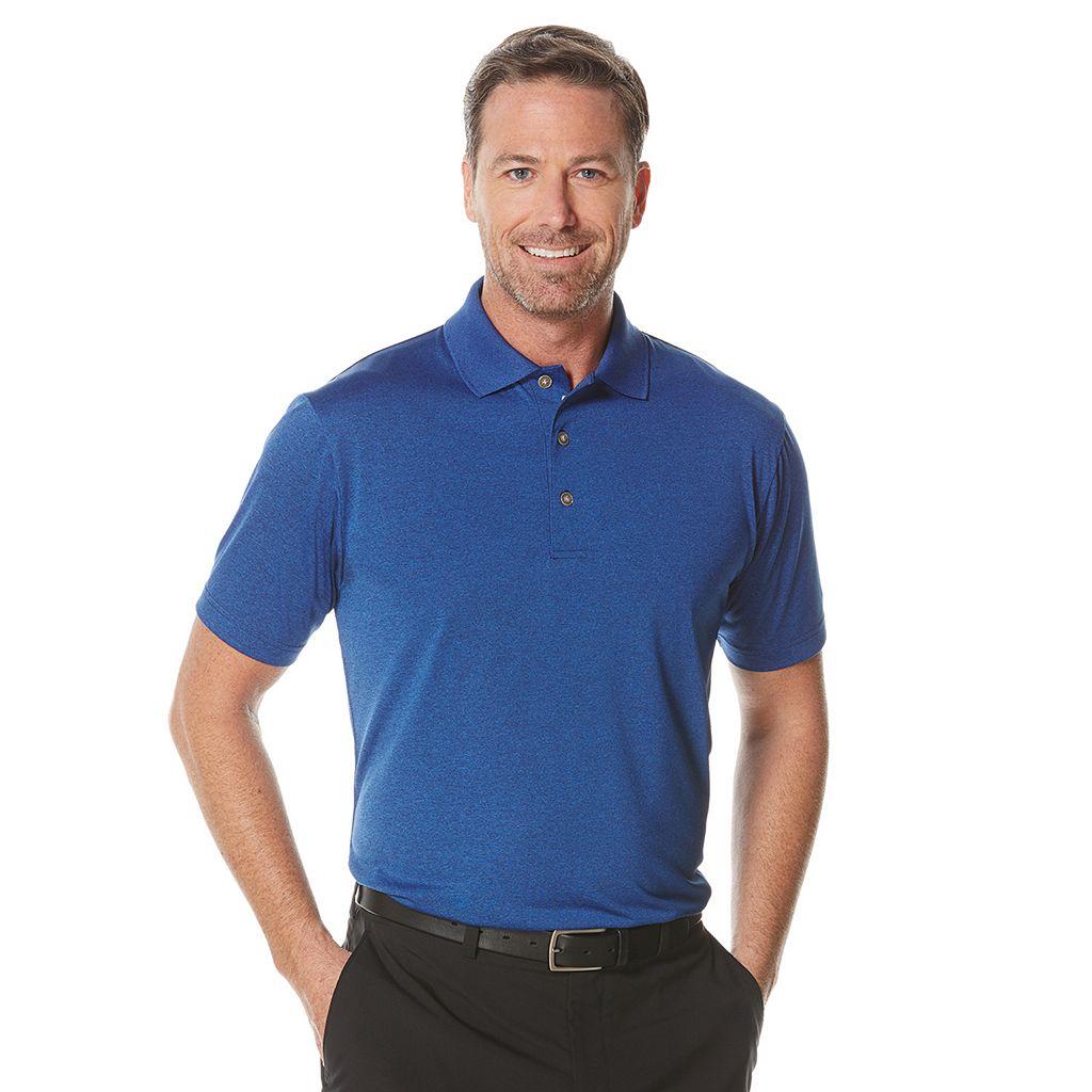 Men's Grand Slam Heathered Golf Polo