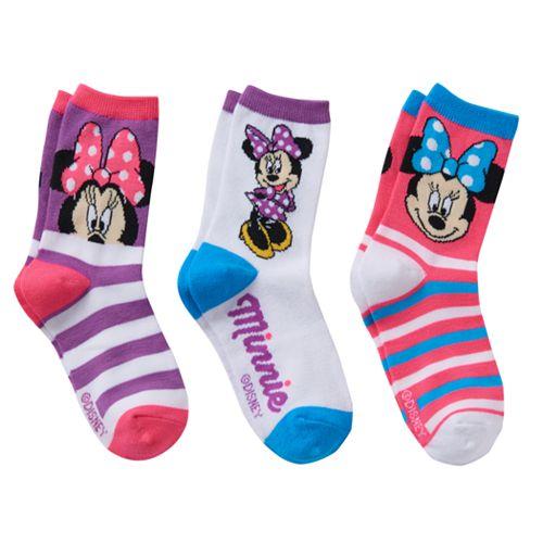 Disney's Minnie Mouse Girls 4-6x 3-pk. Crew Socks Gift Box