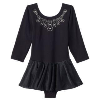 Girls 4-16 Jacques Moret 3/4-Length Sleeve Black Skirtall